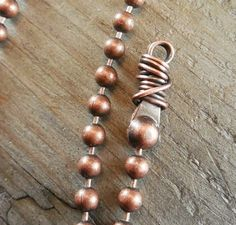 Art Jewelry Elements: Ball Chain Ends Tutorial Jewelry Clasps, Copper Jewelry, Jewelry Findings, Jewelry Art, Beaded Jewelry, Jewelry Design, Handmade Jewelry, Domino Jewelry, Jewelery