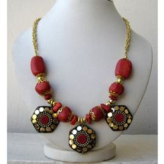 Coral Necklace / Bib Necklace / Statement Necklace / by FootSoles, $26.50