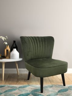 Armchair Sofia olive green - Lifa Living - Armchair - Armchair Sofia taupe – Lifa Living Dreamdeal – Temporarily from € 199 for € - Interior And Exterior, Interior Design, Bohemian Living Rooms, English Decor, Cottage Kitchens, Attic Spaces, Indian Home Decor, Retro Furniture, Sofa Set