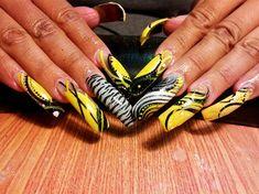 CANARY YELLOW! by phathipz - Nail Art Gallery nailartgallery.nailsmag.com by Nails Magazine www.nailsmag.com #nailart