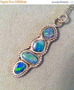 SHOP SALE Insane 4 fiery opal sterling by YaronaJewelryDesign