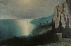 KHARLAMNI KOSTANDI,  Title: Seashore by Moonlight