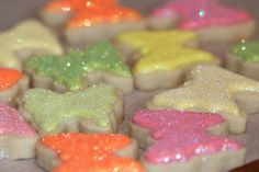 sparkling butterfly cookies!! Daughter would LOVE these!