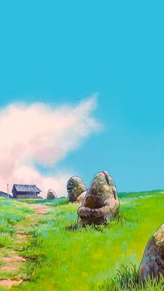 A bunch of studio ghibli phone wallpapers i've collected over the years. Studio Ghibli Art, Studio Ghibli Movies, Fantasy Landscape, Landscape Art, Aesthetic Art, Aesthetic Anime, Totoro, Studio Ghibli Background, Anime Scenery Wallpaper