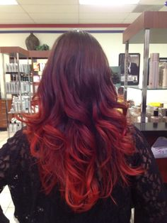 Fire Ombre.....when I am done being pregnant I am going to do my hair something like this. It shall be done.