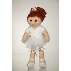 Bambola di pezza My Doll Bambola Ballerina Bianca 42cm. Curata nei minimi dettagli, è realizzata a mano in Italia.