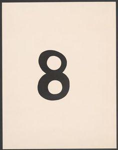 Arabische Act (Arabic Eight)by Jean Arp, 1923 | Lithograph  Photo via MOMA