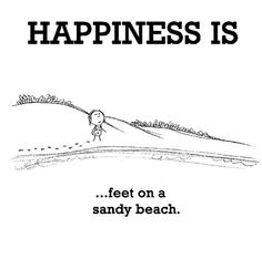 Happiness #332: Happiness is feet on a sandy beach.