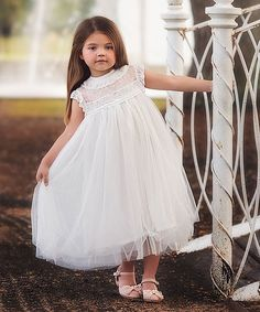 Another great find on Trish Scully Child White Allessandra Dress - Infant, Toddler & Girls by Trish Scully Child Toddler Girl Dresses, Little Girl Dresses, Girls Dresses, Toddler Girls, Infant Toddler, Infant Girls, Bride Dresses, Cute Bridesmaid Dresses, Wedding Flower Girl Dresses