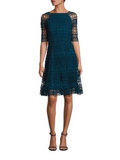 KAY UNGER Geometric Lace Dress. #kayunger #cloth #dress