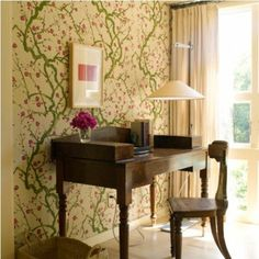 frühling deko - florale dessins und echte blumen