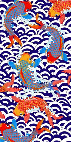 iPhone 8 Glitter case - koi fish Japanese tattoo style transparent pattern by Marta Olga Klara - Polkadee Hottentee ! Japanese Tattoo Style, Japanese Tattoo Designs, Japanese Koi Fish Tattoo, Koi Fish Drawing, Fish Drawings, Koi Art, Fish Art, Japanese Patterns, Japanese Prints