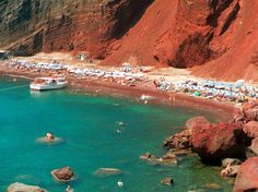 RED BEACH  Santorini, Greece    Santorini's stunning Red Beach is made even more picturesque by its backdrop of soaring red lava cliffs.