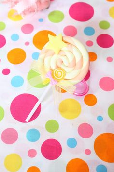 Yellow And Orange Small Lollipop Hair Clip by kittywooddesigns, $13.00