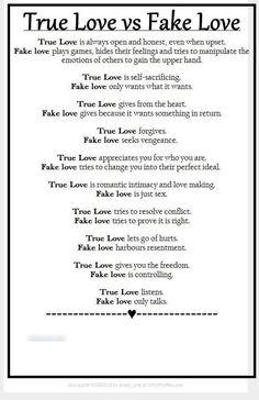 True love vs Fake love.