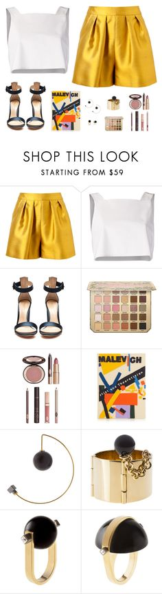 """""""Sin título #4681"""" by mdmsb on Polyvore featuring moda, Giambattista Valli, Rosie Assoulin, Gianvito Rossi, Charlotte Tilbury, Olympia Le-Tan y May Moma"""