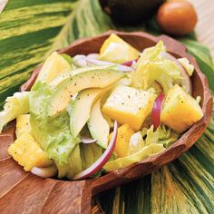 Avocado and Pineapple Salad - 20 Flavorful Tropical Dishes - Coastal Living