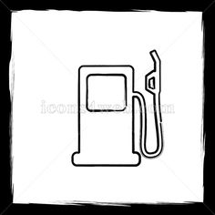 Outline design in high resolution and well suited for web or print use. Money Envelope System, Sketch Icon, Web Design Icon, Find Icons, Website Icons, Outline Designs, Fuel Gas, Gas Pumps, Social Media Pages