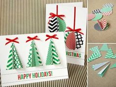 34 Adorable DIY Christmas Postcard Ideas