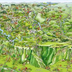 Mapa da Serra do Rio do Rastro no sul de Santa Catarina, Brasil - artista Jylson Martins