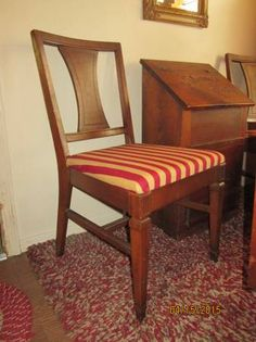 Solid oak richardson brothers oval table with 6 chairs - Richardson brothers bedroom furniture ...