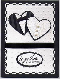 Together Forever Wedding card by Julie Bug - Cards and Paper Crafts at Splitcoaststampers Wedding Shower Cards, Wedding Invitation Cards, Cricut Cards, Stampin Up Cards, Scrapbook Cards, Scrapbooking, Wedding Anniversary Cards, Cricut Anniversary Card, Wedding Cards Handmade