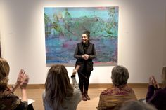 """Through March 12, 2017: Hood Downtown in Hanover, N.H """"Let the Garden Eram Flourish,"""" Iranian-born, Brooklyn-based artist Bahar Behbahani: """"One of Behbahani's other prime influences was literary: Marcel Proust's In Search of Lost Time. She wanted, she said, to do """"a painting that is like a chapter of a book, but a book that is a non-linear narrative.""""  Site"""