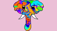 d57a425d5 Colorful Elephant T Shirt By Shrenk Design By Humans