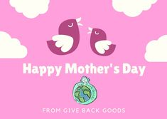 @givebackgoods posted to Instagram: Happy Mother's Day from Give Back Goods! . . Shop sustainable at GiveBackGoods.com (link in bio, shipping is always included). . . #GiveBackGoods #GiveBack #gogreen #ecofriendly #zerowaste #sustainability #sustainable #eco #nature #environment #green #gogreen #savetheplanet #fairtrade #handmade #organic #climatechange #fightclimatechange #earth #bethechange #recycle #reuse #reducewaste International Holidays, Reduce Waste, Giving Back, Save The Planet, Go Green, Happy Mothers Day, Climate Change, Reuse, Sustainability