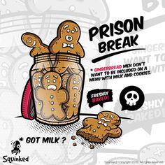 Prison Break - Gingerbread men by squinked Prison Break, Gingerbread Man Cookies, Escape Plan, Design, Products, Gadget
