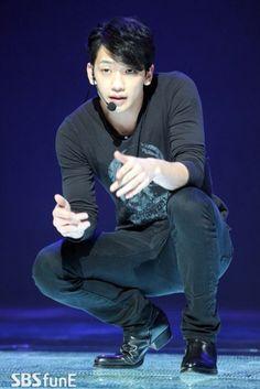 "Rain at his Mnet ""Rain Effect"" Comeback Special recording rehearsal."