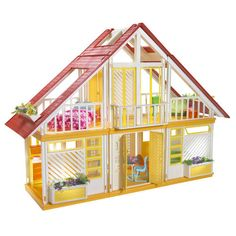 The Barbie dream house...my #1 favorite, most used/abused childhood toy.  Sometimes my brother's Starwars toys would stop over and hang with the girls
