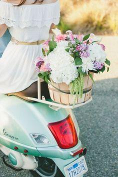 Italian Vespa Engagement in Santa Barbara Wedding Trends, Wedding Styles, Floral Wedding, Wedding Flowers, Dream Wedding, Wedding Day, Jeans Wedding, Shabby Chic, Coral