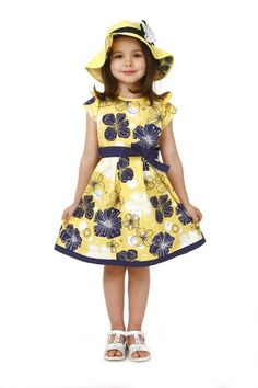 New Girl dress/ Teenage dress for about 5-14 years children/ Yellow dress with bowknot and floral-print on AliExpress.com.