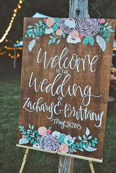 18 Most Popular Rustic Wedding Signs Ideas ❤ See more: www.weddingforwar… - 18 Most Popular Rustic Wedding Signs Ideas ❤ See more: www. Summer Wedding, Diy Wedding, Wedding Favors, Dream Wedding, Wedding Day, Wedding Flowers, Wedding Shot, Spring Weddings, Wedding 2017