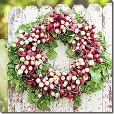 Wreath Inspiration...maybe use as a 'charger' under a serving dish for my 'garden' table.