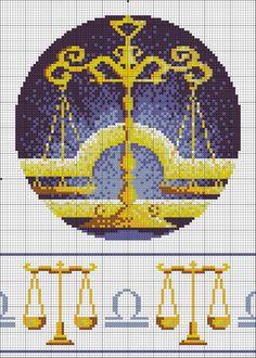 Gallery.ru / Фото #3 - зодиак в круге (добавлены схемы с ключиком) - muha-cc