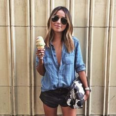 Love this outfit. 36 Amazing Street Style Looks You Will Definitely Want To Save – Casual Fashion Trends Collection. Love this outfit. Cute Summer Outfits, Spring Outfits, Summer Dresses, Chic Outfits, Fashion Outfits, Womens Fashion, Fashion Ideas, Fashion Tips, Short Noir