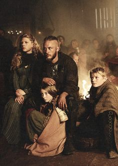 Ragnar Lothbrok and his family. Vikings, my fav TV show from History tv. Vikings Travis Fimmel, Travis Fimmel Vikingos, Ragnar Vikings, Vikings Tv Show, Vikings Tv Series, Ragnar Lothbrok, Viking Life, Viking Warrior, Viking Shop