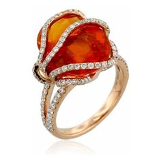 Britt's Pick Yael Designs' Fiery Rose Gold Ring ❤ liked on Polyvore