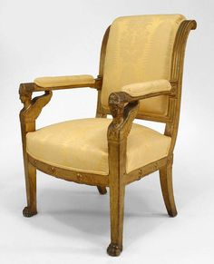 French Empire seating chair/arm chair gilt