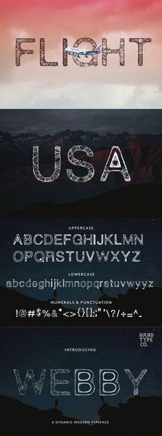 Webby Font. Fancy Fonts