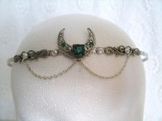 Priestess Circlet, wiccan jewelry pagan jewelry wicca jewelry crown gypsy witch gothic magic mystic witchcraft metaphysical new age celtic op Etsy, $32.00