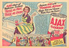 Vintage AJAX Cleanser Ad