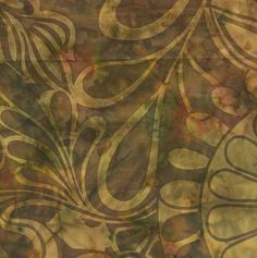 Island Batik Hand Printed Cotton - Woven Straw SP01-B1