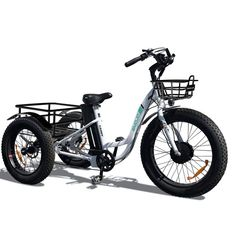 Emojo Caddy Electric Tricycle | Electric Bike | Emojo Bikes – Electric Boarding Company Best Electric Bikes, Electric Tricycle, Folding Electric Bike, Electric Skateboard, Electric Scooter, Electric Motor, Adult Tricycle, Thing 1, 3rd Wheel