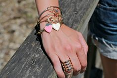Details | armparty | golden | oui | hearts | bracelets | look | ootd | countdown.
