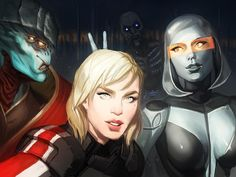 photobomb-> I don't mean the husk. Or EDI. JAVIK, GET OUT OF MY PIC!