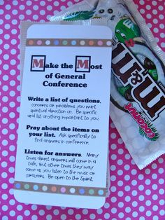 General Conference idea for YW - I could completely see using the idea for primary or visiting teaching or.....