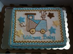 baby shower cakes for a boy | Baby Shower Cake | Country Mornings
